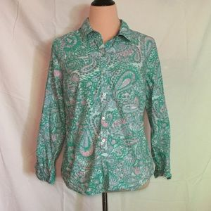 Charter Club Relaxed Fit Paisley Button Down